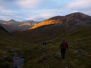 Sunset on The Mamores