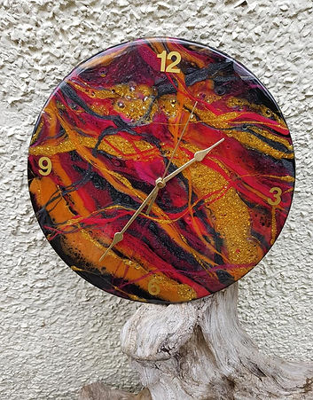golden flow Resin Clock