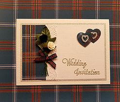 Scottsh Jewish Clan Wedding Card