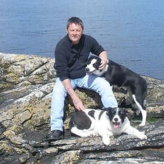 John Irvine and his dogs