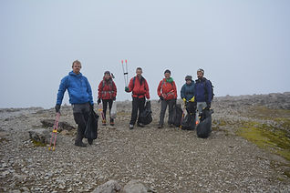 Some of the Real 3 Peaks Ben Nevis crew