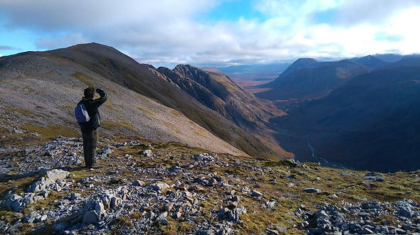 Walking into Coire Nan Lochain, Mamores