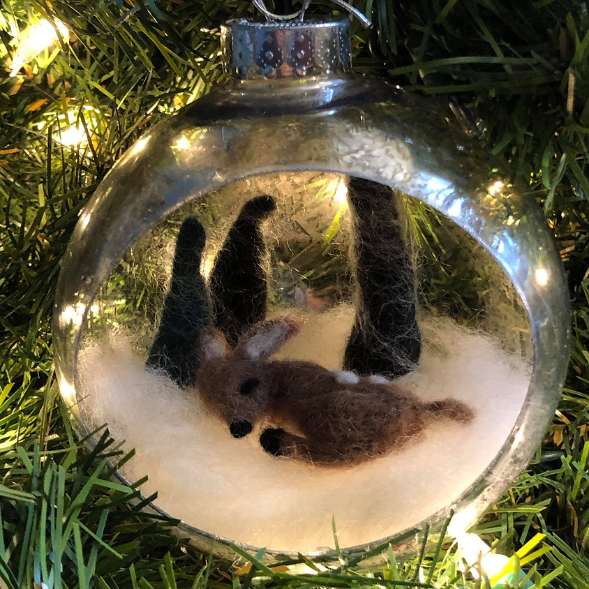Needle Felted Winter Woodland Ornament