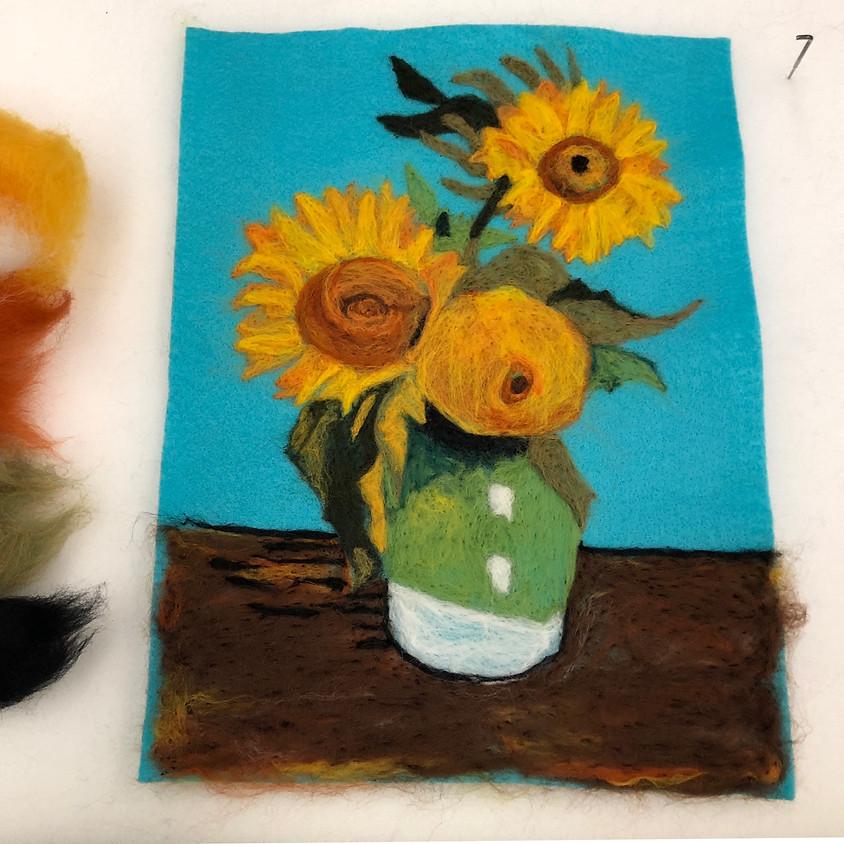 "Needle Felted Van Gogh's ""Sunflowers"""