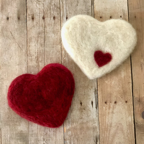 Art Box: Needle Felted Cookie Cutter Hearts