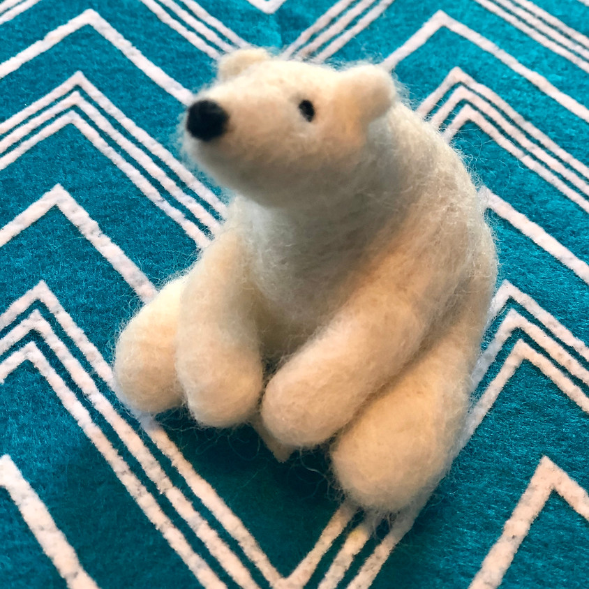 Kids Art!: Needle Felted Polar Bears