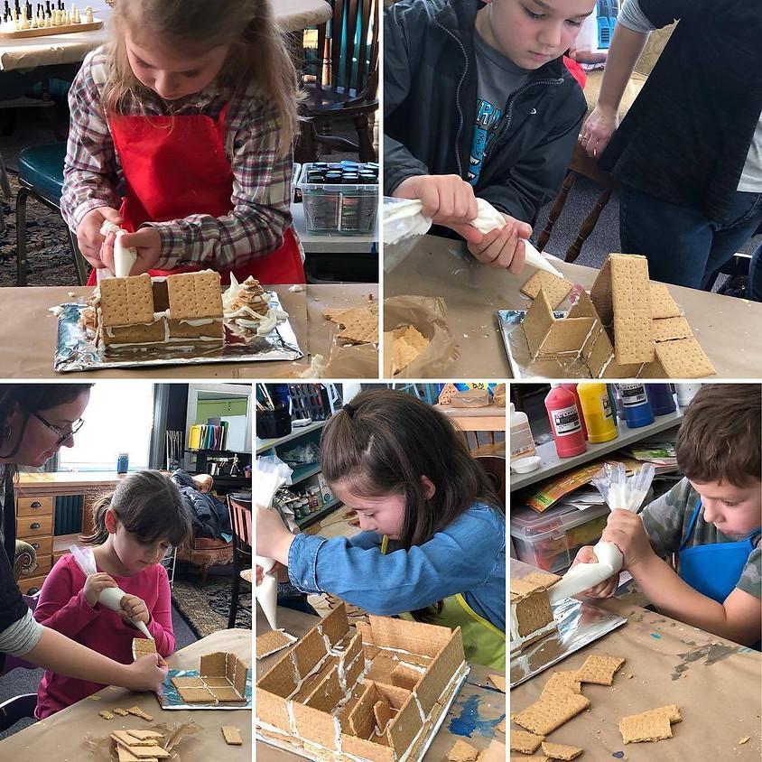 Kids Art After School: Frank Lloyd Wright Graham Cracker Houses