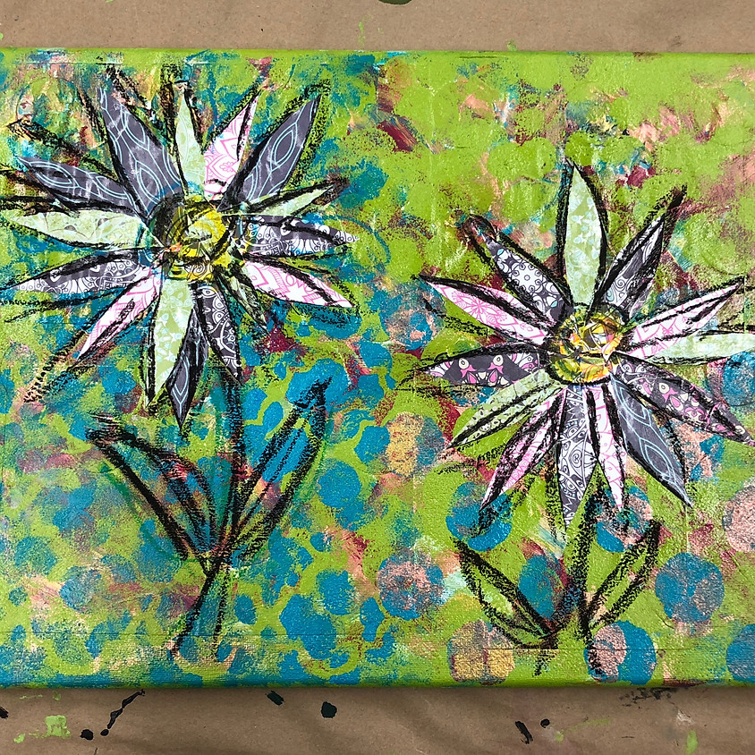 Mixed Media Summer Collages