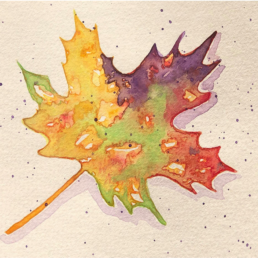 Watercolor Workshop: Fall Leaves and Pumpkins