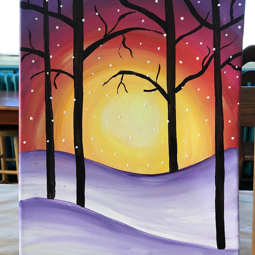(BYOB) Paint Night @ The Place: Winter Sunset
