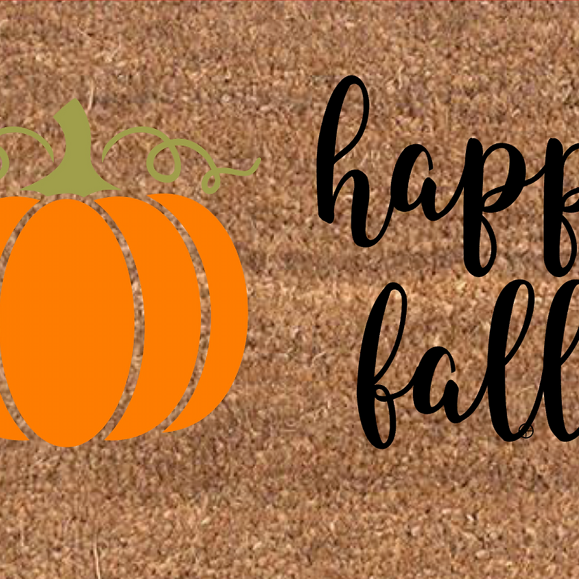 Fall Door Mat Painting
