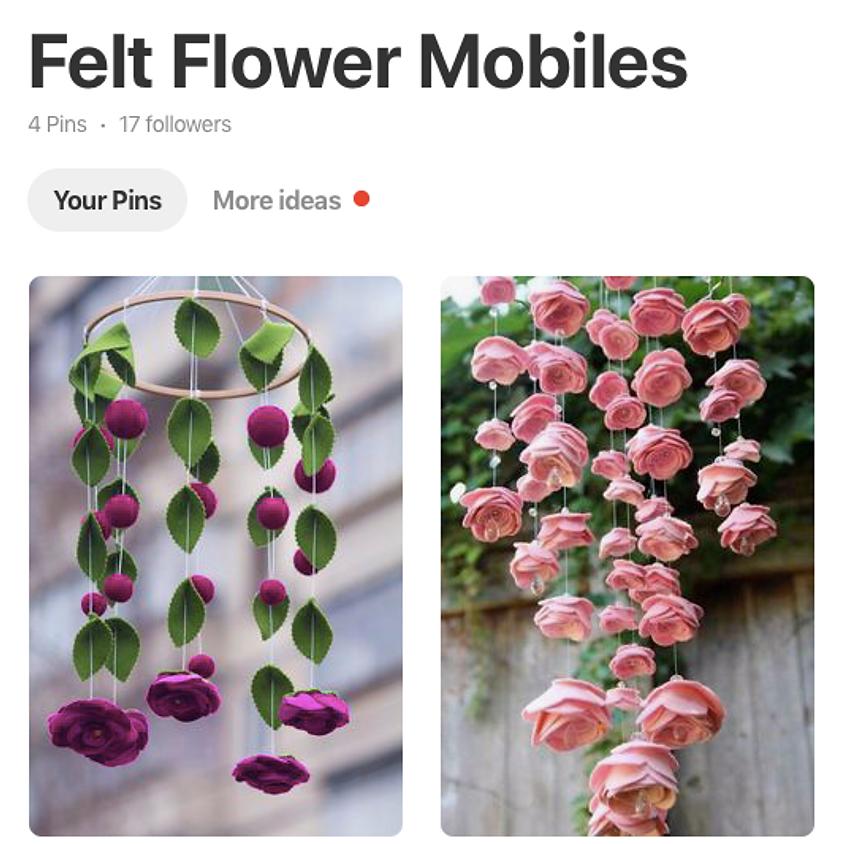 Felt Flower Mobiles