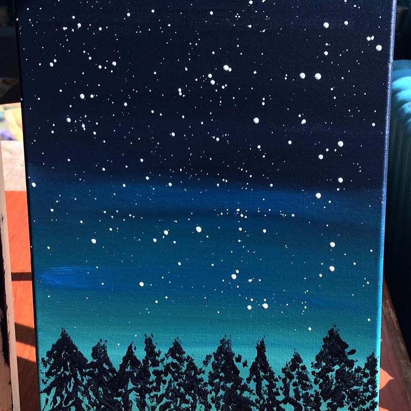(BYOB) Paint Night @ The Place: Starry Night Sky