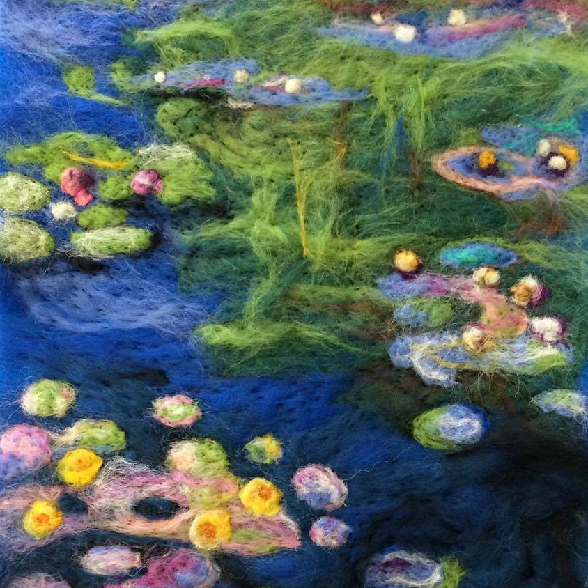 Needle Felted Monet's Water Lilies