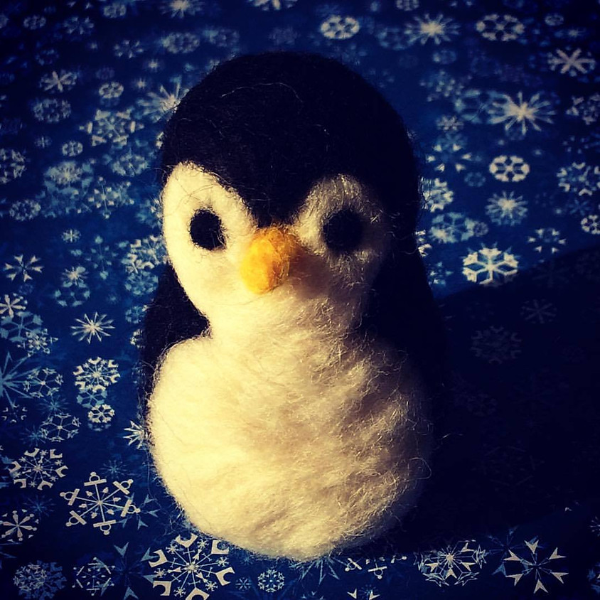 Off-Site at Concord Handmade: Needle Felted Penguins
