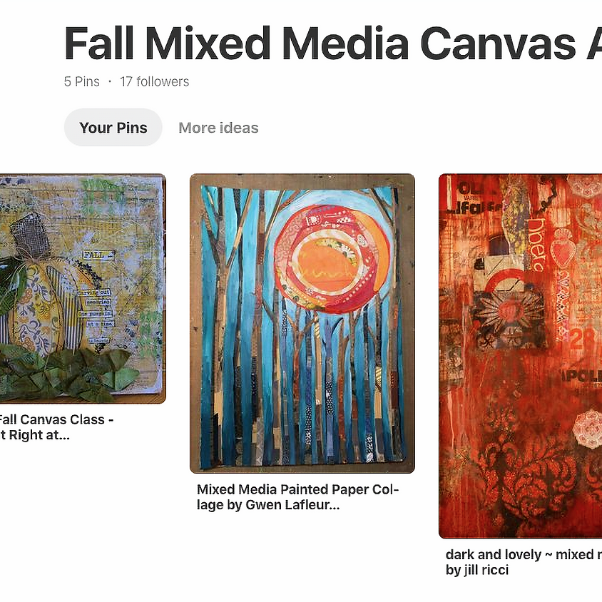 Mixed Media Fall Collages