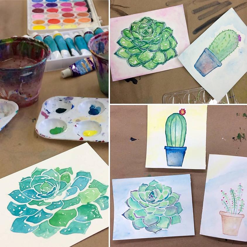Watercolor Workshop: Succulents