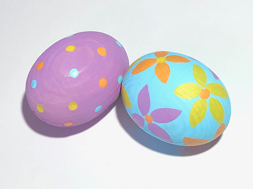 Art Box: Hand-Painted Wooden Easter Eggs