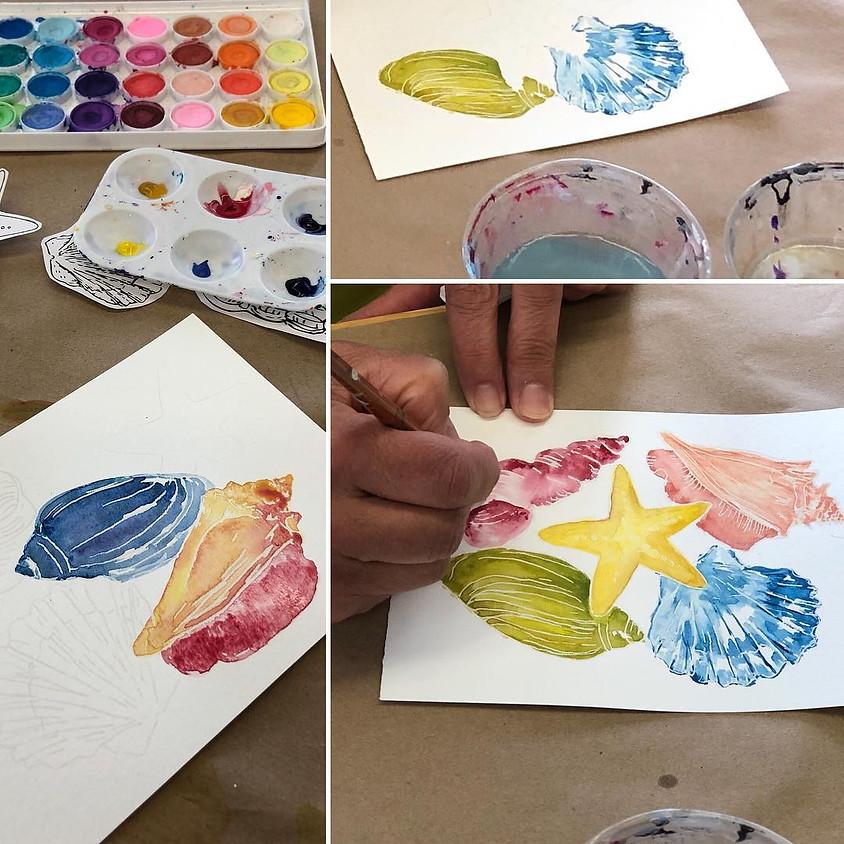 Watercolor Workshop: Seashells