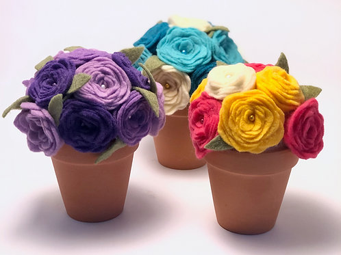 Art Box: Felt Flower Pot