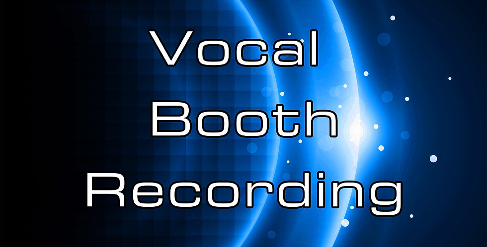 Vocal Booth Recording (price per hour)
