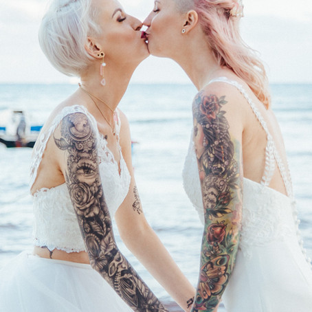 Tatted Brides Celebrate Their Love In Mexico