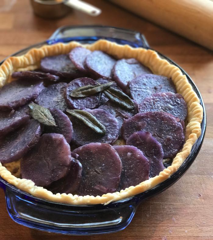 Purple Potato, Brown Butter and Sage Pie.