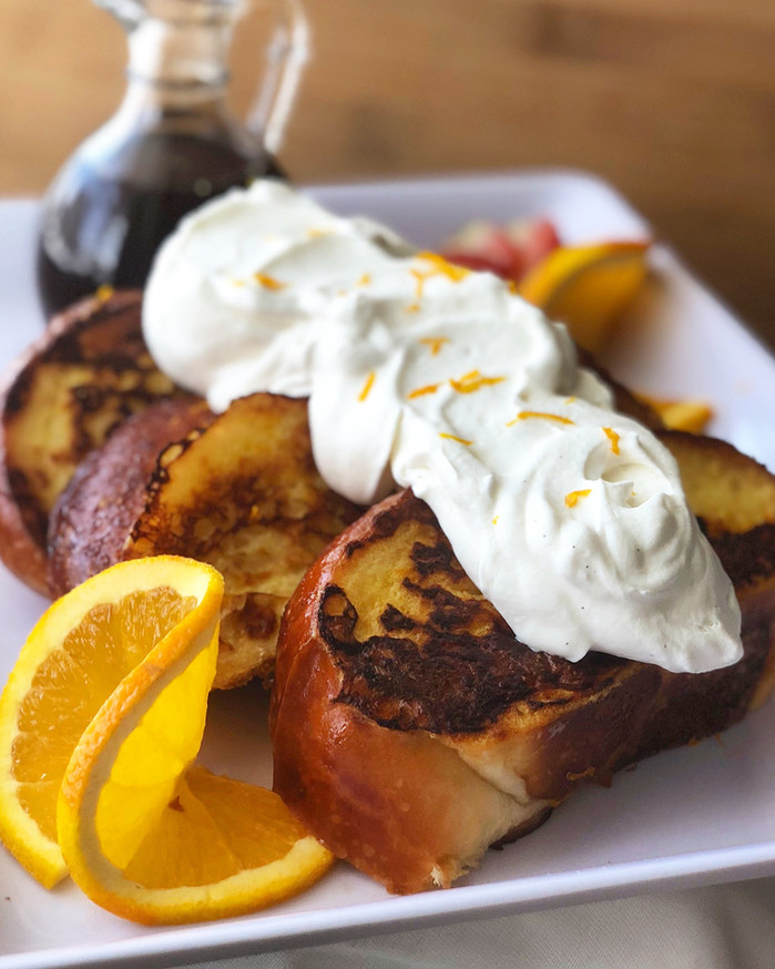 Orange Scented Brioche French Toast