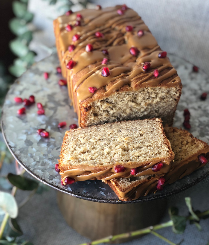 Cookie Butter and Cream Cheese banana Bread