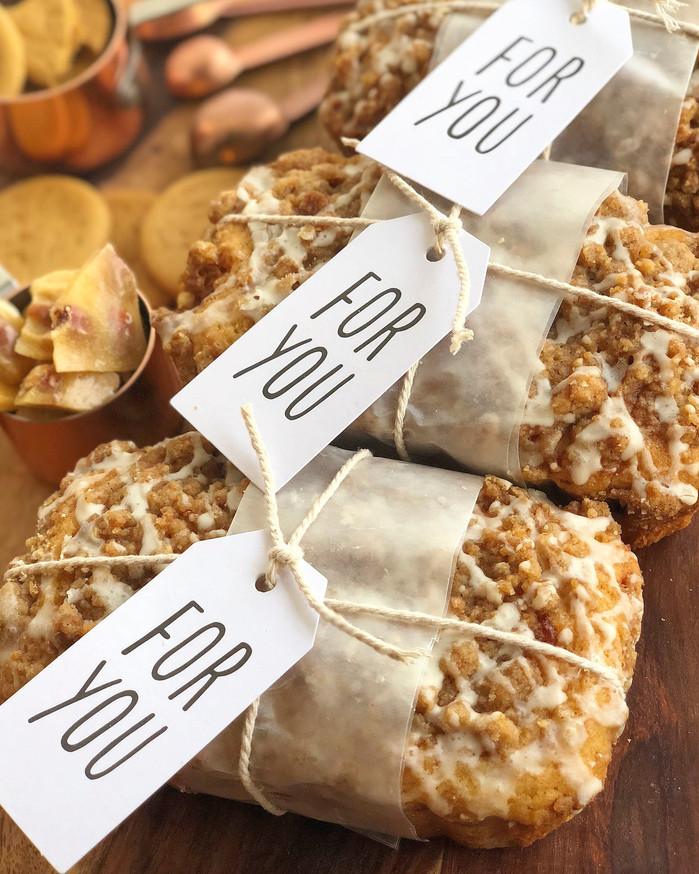 Eggnog Cake with Peanut Brittle-Gingersnap Streusel and Eggnog Glaze