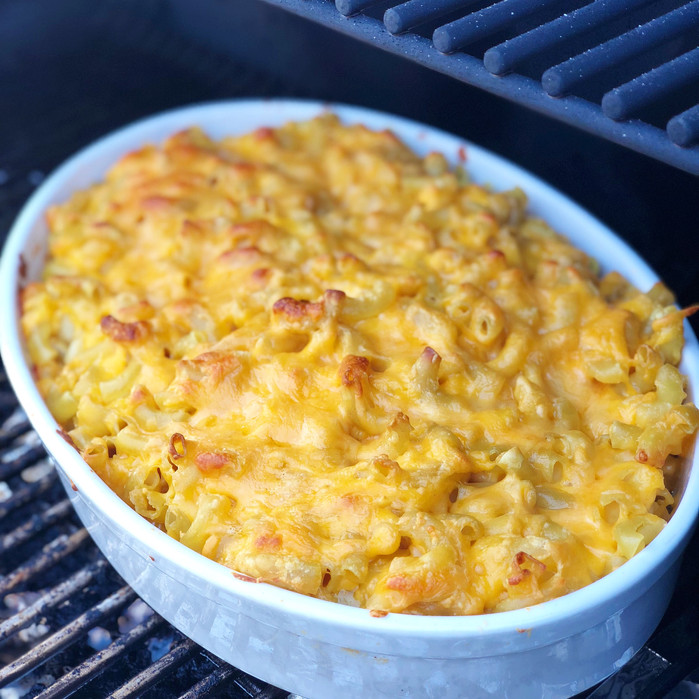 Mac N Cheese with Whiskey and Sharp Cheddar Sauce