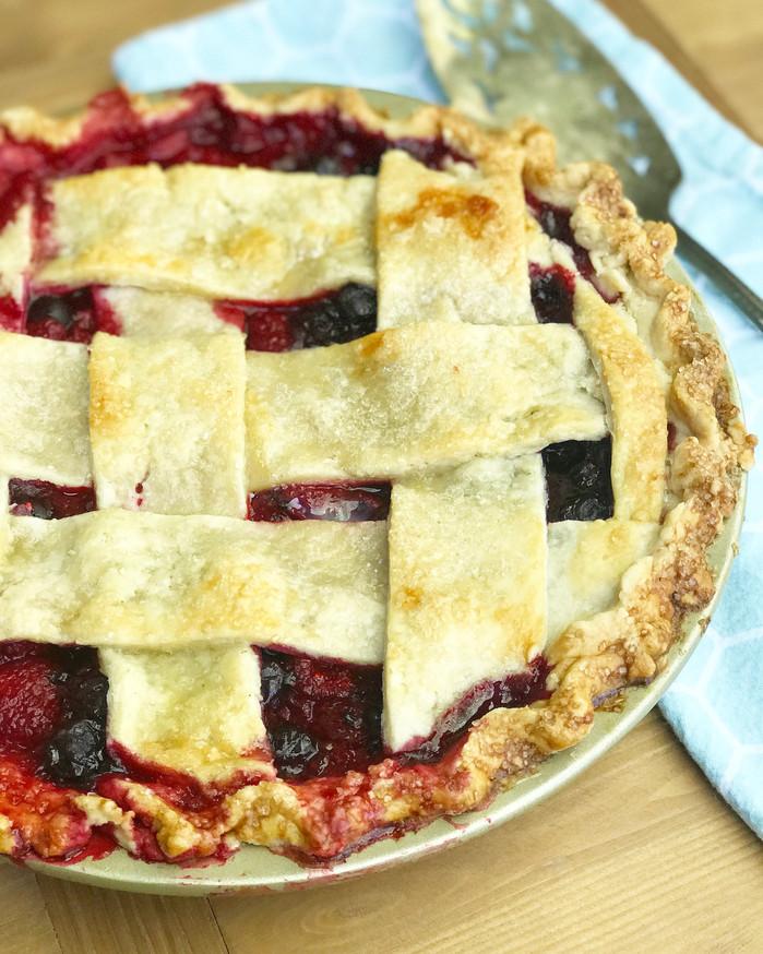 Tart Lemon Berry Pie