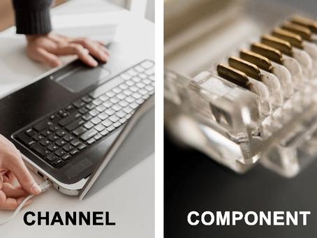 ¿Cuál es la diferencia entre las normas de canal y de componentes?