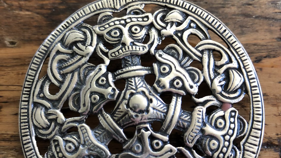 Sølvbrosje kopi fra vikingtiden