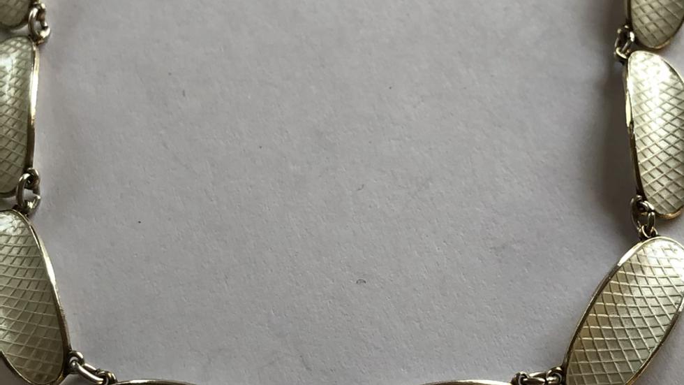 David Andersen kjede i sølv og emalje