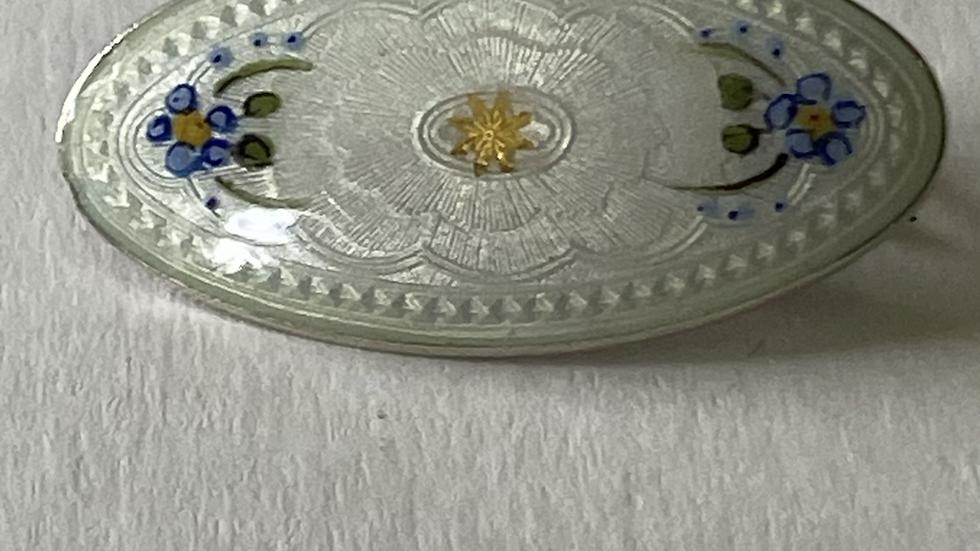 Hjortdahl brosje i sølv og emslje