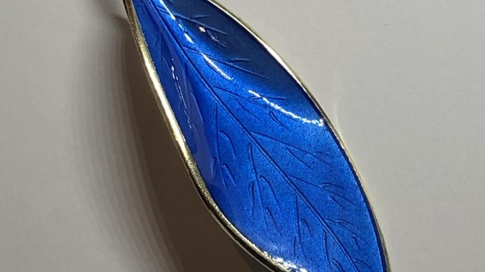 David-Andersen brosje i sølv og emalje
