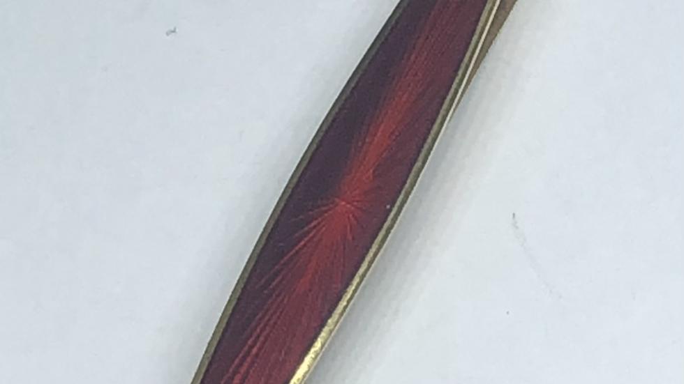 David-Andersen slipsnål i sølv og emalje