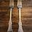 Thumbnail: Flat rose gaffel i sølv