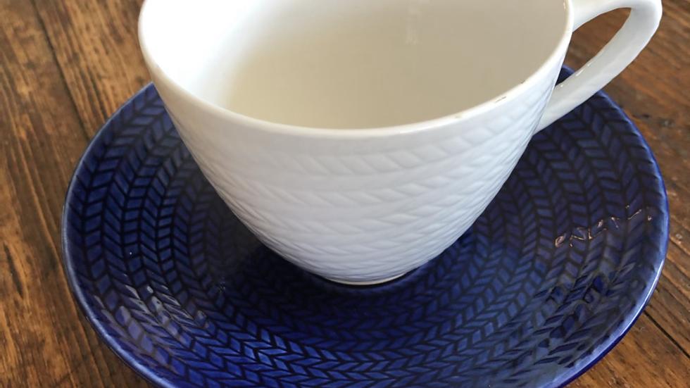 Blå Eld Rörstrand kopp/skål
