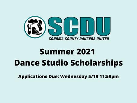 Summer 2021 Dance Studio Scholarships