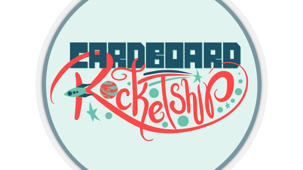 Cardboard Rocketship Sticker