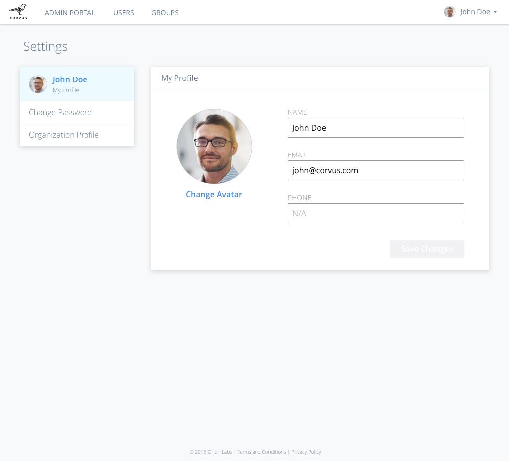 Settings-My Profile