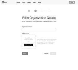 Organization Details (Empty)