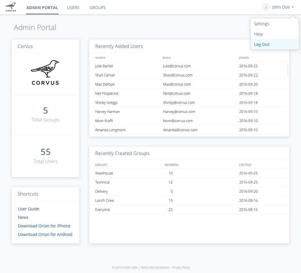 Demo Portal_ Content & Dropdown