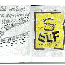Page from Collaborative Book-Making + Radical Imagination Workshop