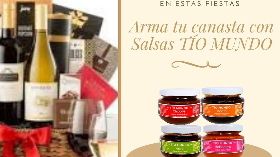 Kit de cuatro salsas (chipotle, morita, árbol y habanero) 4 Oz