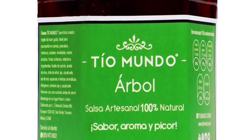 Salsa Árbol con ajo y cacahuate (9 OZ) Ideal con caldos, sopas, cortes, pescados