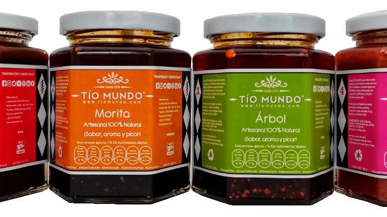 Kit de cuatro salsas (chipotle, morita, árbol y habanero) 9 Oz