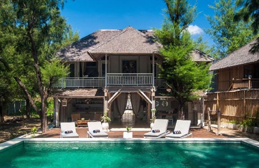 Poolside view of the Villa 💦💦🐬